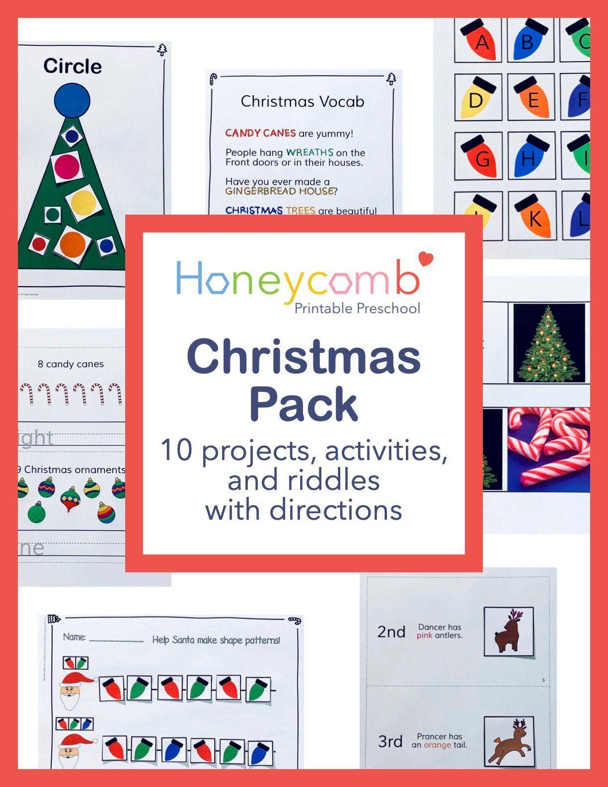 Christmas Literacy Math Pack Made By Teachers Christmas Literacy Christmas Worksheets Business For Kids [ 1584 x 1224 Pixel ]
