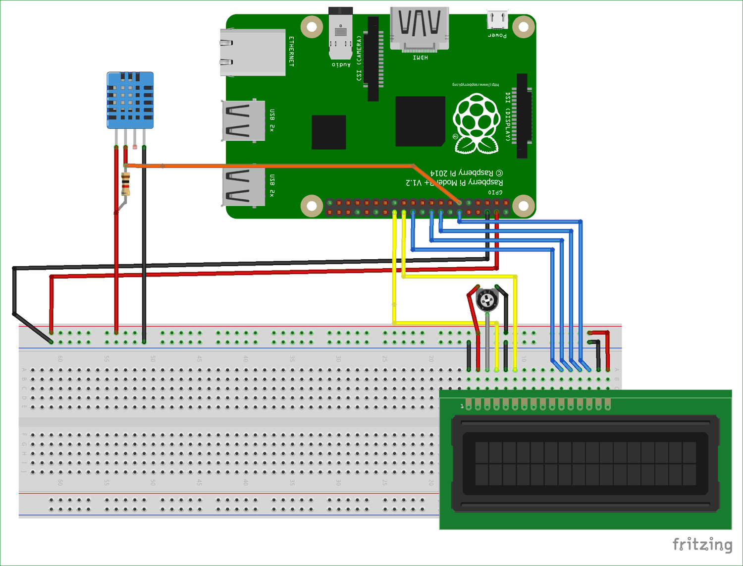 circuit diagram for interfacing dht11 with raspberry pi [ 1500 x 1142 Pixel ]