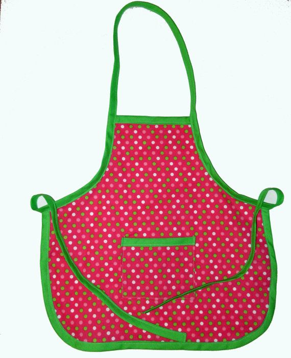 Check out this item in my Etsy shop https://www.etsy.com/listing/181373710/polka-dot-toddler-apron-pink-girls-polka