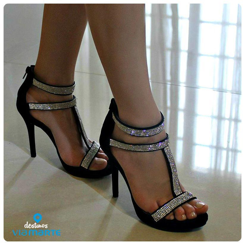 salto alto - brilho - heels - strass - party shoes