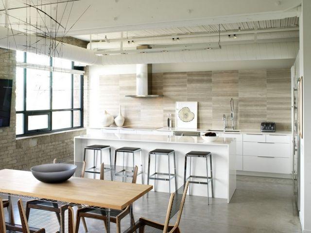 moderne-küche-wandfliesen-verlegen-naturstein-optik Home Pinterest - wandfliesen für küche