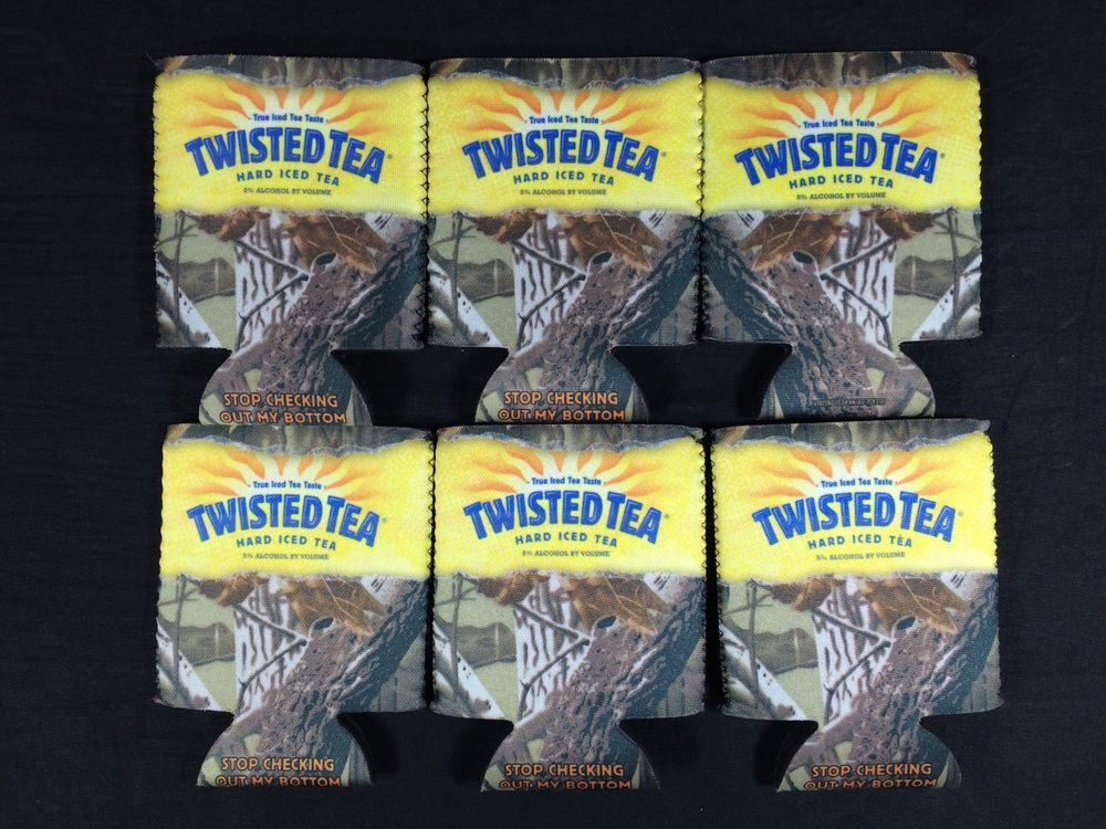 6 Twisted Tea Bottle Can Koozies Camouflage New Twisted Tea Tea Bottle Canning