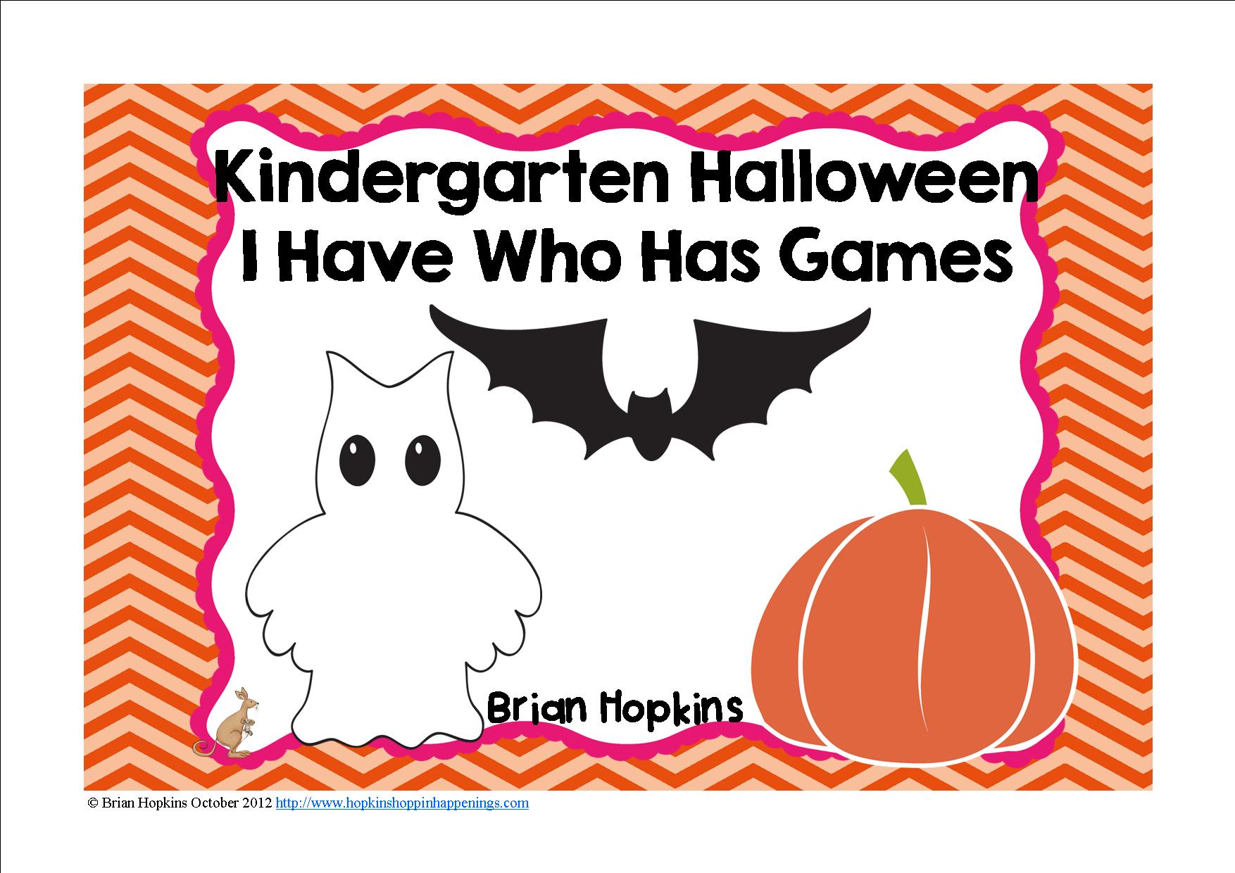 Halloween I Have Who Has Kindergarten Games 4