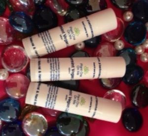 The finished product. Refreshing Peppermint Vegan Lip Balm with organic and all natural ingredients.