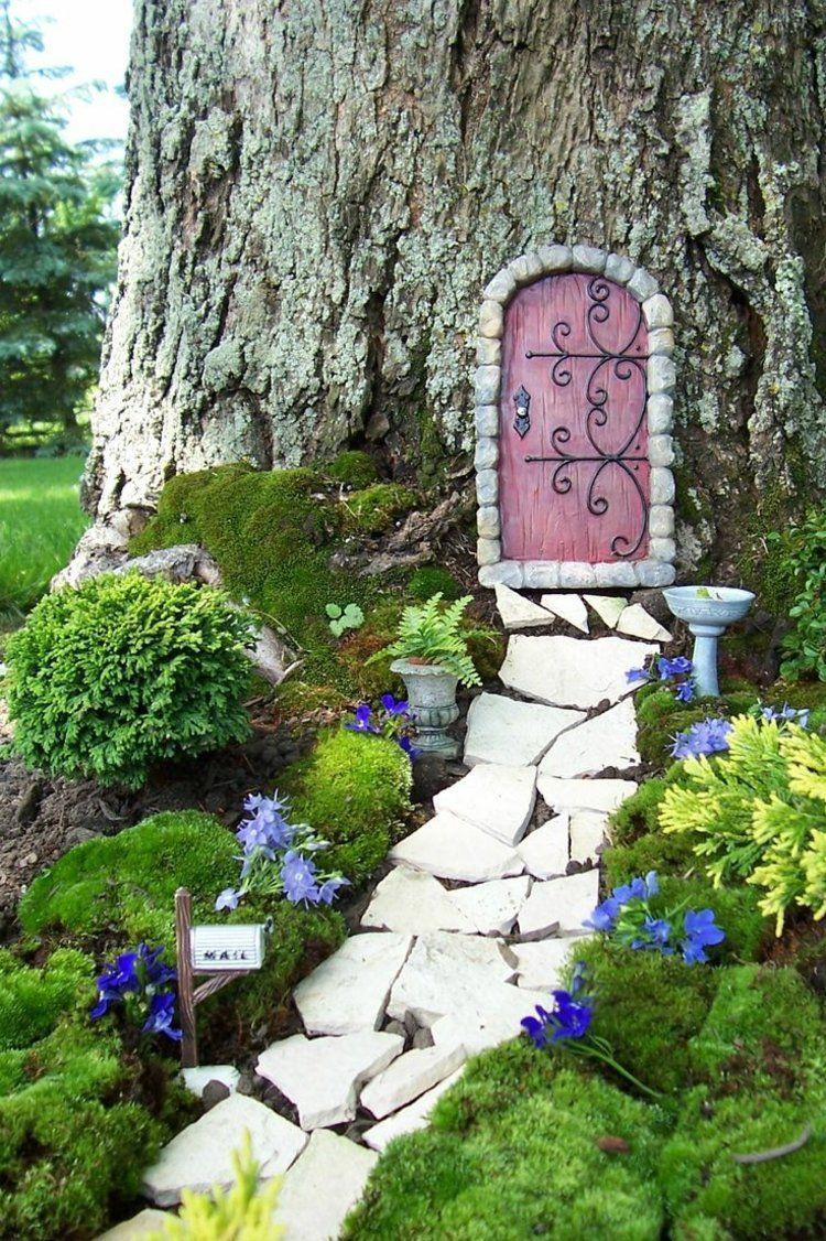 Gartendeko Selber Machen   Eine Gnom Tür Für Den Baum