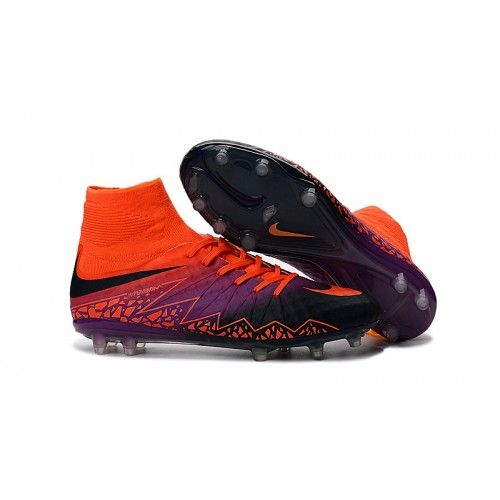 online store f13aa 59a5a Cheap Original Nike Hypervenom Phantom II FG High Top Soccer Cleats Orange  Purple Black