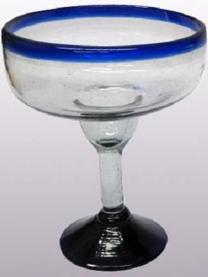 Cobalt Blue Rim Glassware Large Variety Lowest Prices Great Mexican Glassware Margarita Glasses Mexican Glass