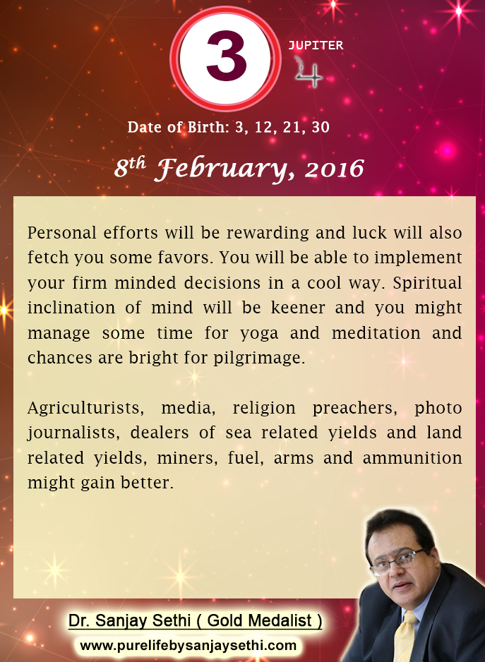 date of birth 8 february numerology prediction