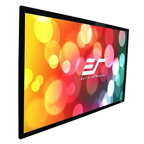 Elite Screens Sable Frame B2 Series 110 Inch Diagonal 16 9 Fixed Frame Home Theater Projectio Projection Screen Fixed Projector Screen Rear Projection Screen