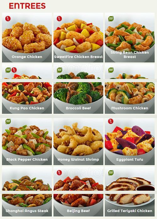 menu for panda express south side   nutrition panda