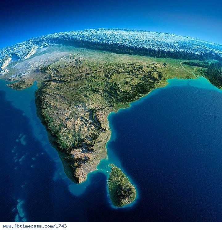 3D Map Of India 3D map of India with Himalayas in the background! | India 3d in