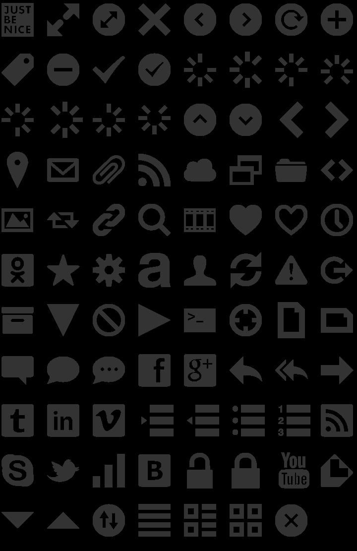 Web Symbols Dingbat Font Specimen | Dingbats | Dingbat fonts