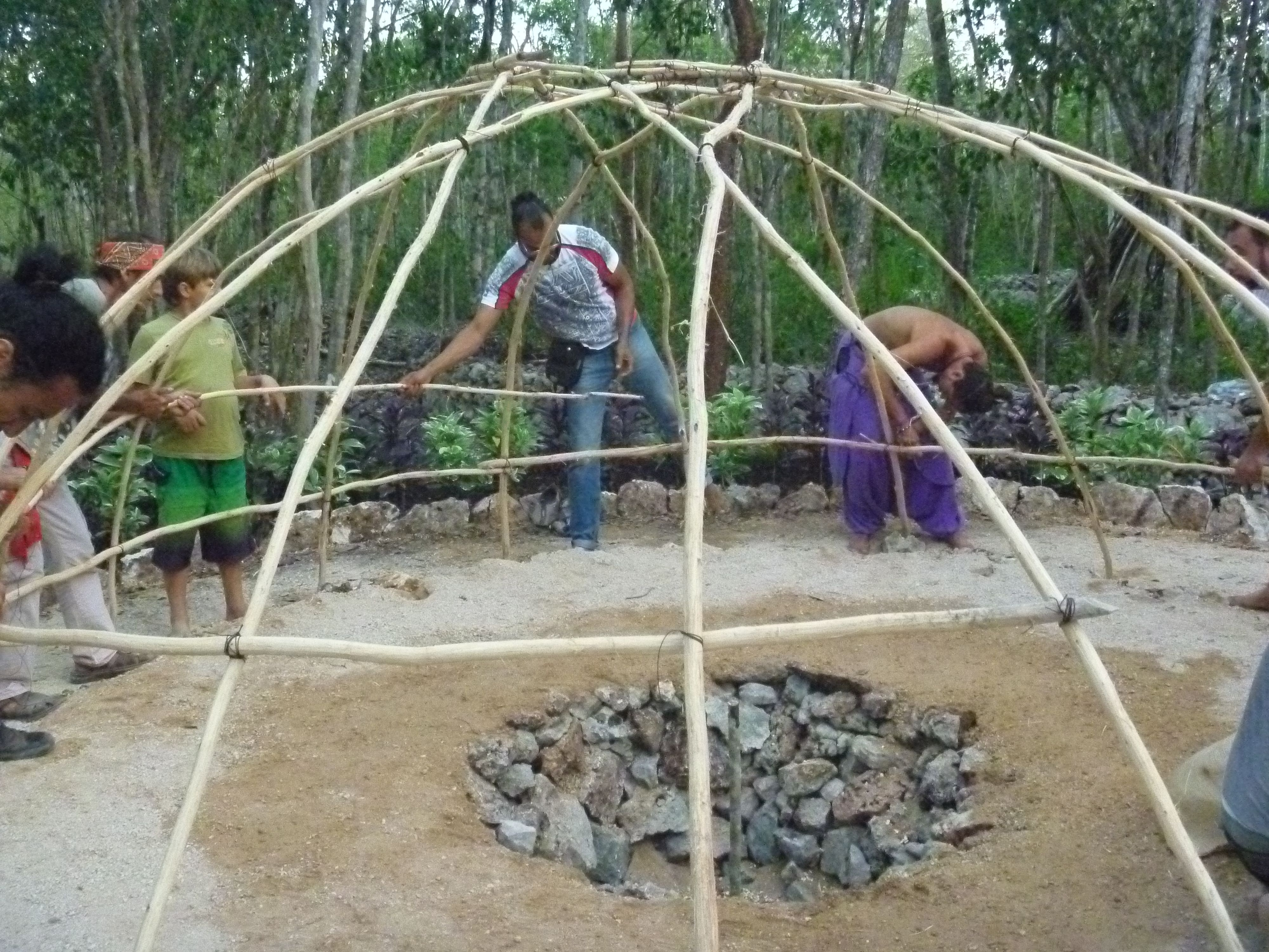 The New Temascal In Sac Be In Its Last Stage Of Construction Garden Bridge Outdoor Outdoor Structures Backyard diy sweat lodge