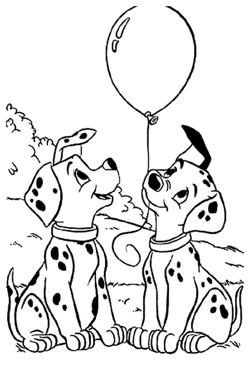 Pretty Picture Of 101 Dalmatians Coloring Pages Davemelillo Com Ting A Tegne Fargelegging Dalmatiner