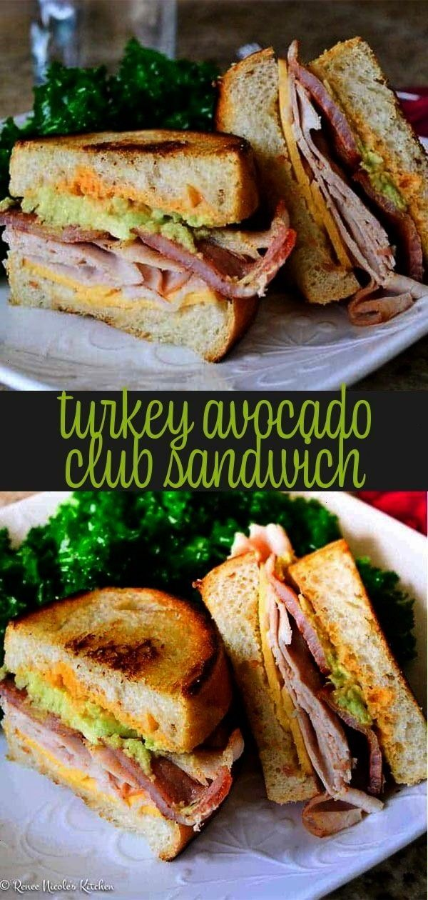 Club Sandwich turkey, bacon, gouda, avocado, and spicy sweet sriracha sauce layered on toasty sear