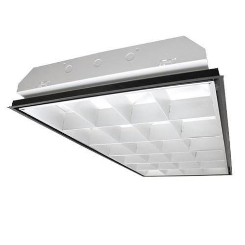 Fluorescent Lighting 2 x 4 3 Lamp Parabolic Troffer Fixture Cooper Metalux  T8