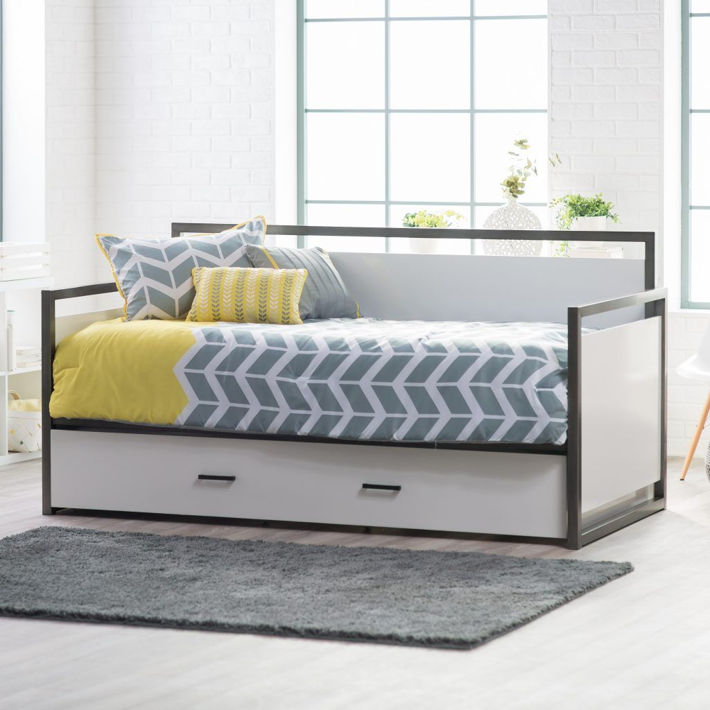 modern daybed mattress cover with trundle designs