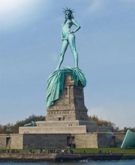 MOTHER OF SEXILES. Freedom... 21st century America. Lady Liberty Bares all. Real Housewife of Ellis Island.
