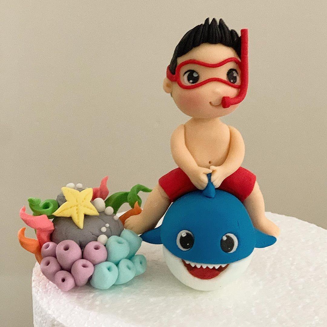 Ocs kitchen on instagram baby shark cake topper