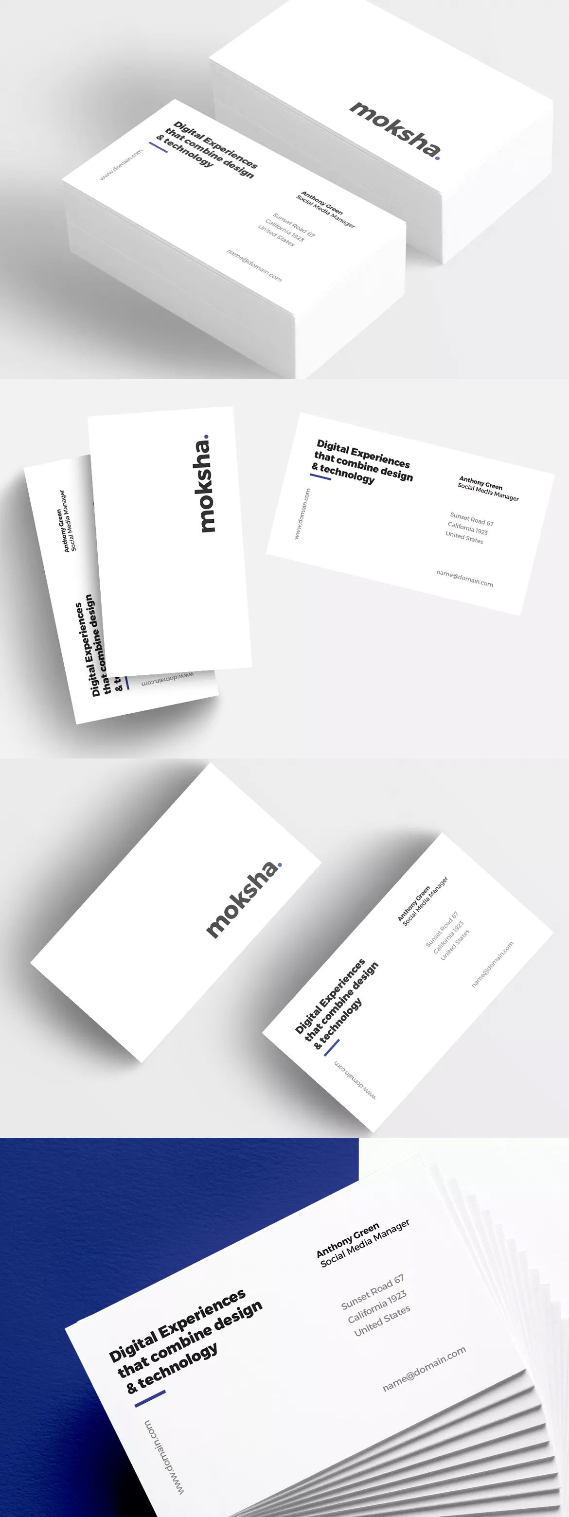 Minimal corporate business card template psd packing pinterest minimal corporate business card by micromove on envato elements reheart Gallery