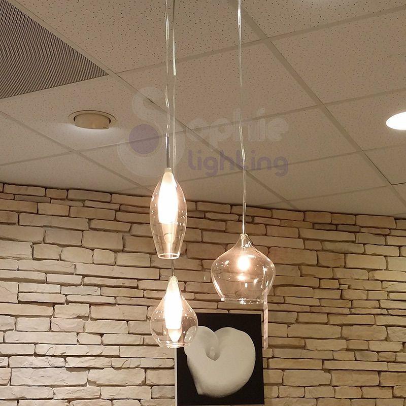 Dettagli Su Lampadario Lampada Sospensione Design Moderno