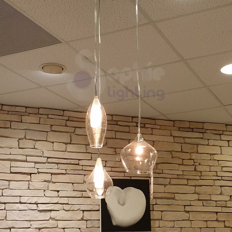Lampadario lampada sospensione design moderno minimal