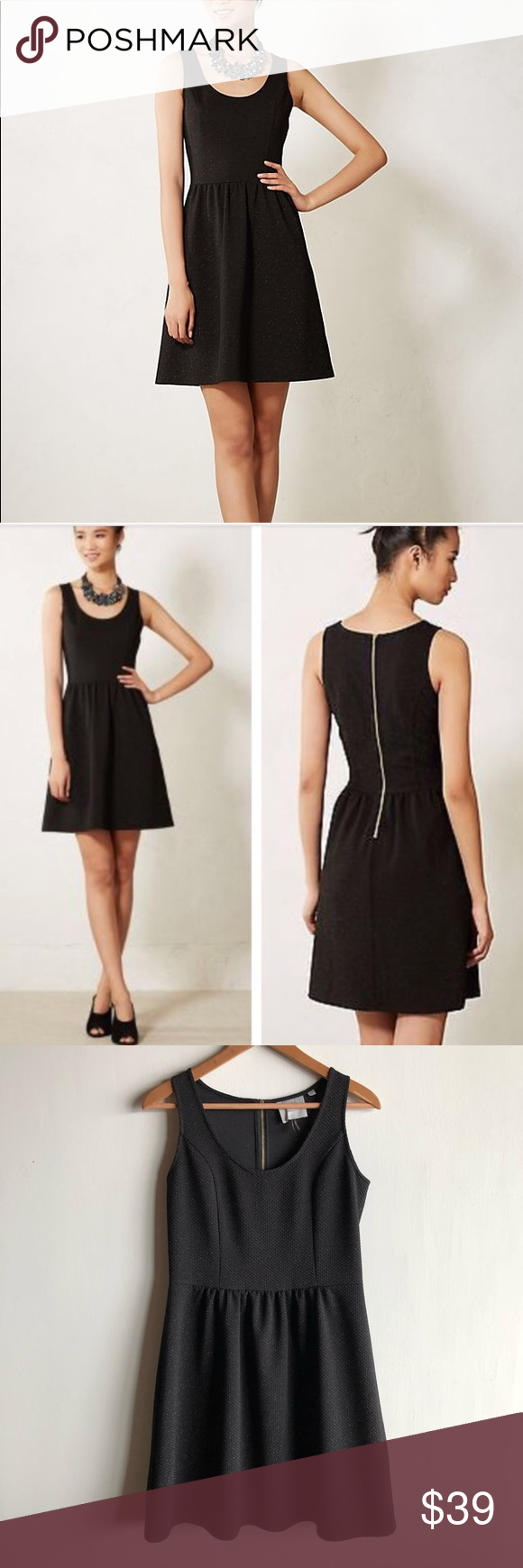 ab20a1f9fe2c Anthropologie HD in Paris black Starry Night dress Gorgeous black fit and  flare dress with a