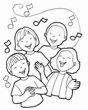 Villancicos Navidenos Para Colorear Cantando Villancicos Jpg 285 355 Ninos Cantando Iglesia Ninos Lecciones Biblicas Para Ninos