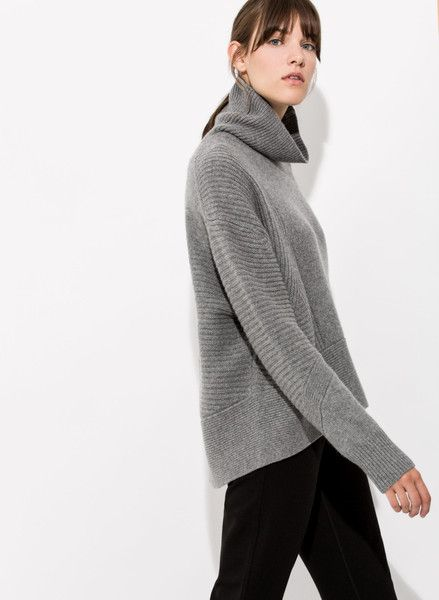 Women's Cashmere Turtleneck Sweater | Ash Turtleneck | Kit