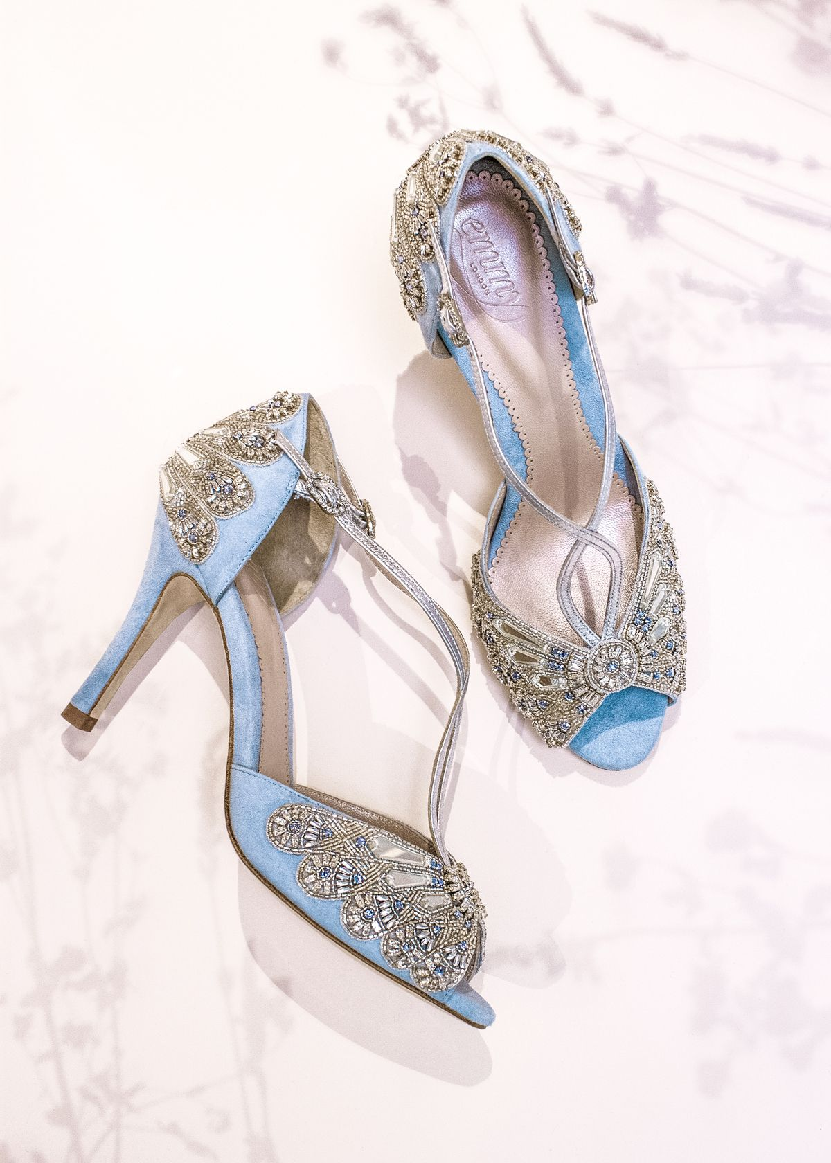 Emmy London S New Meadow Dreaming Collection Blue Wedding Shoes