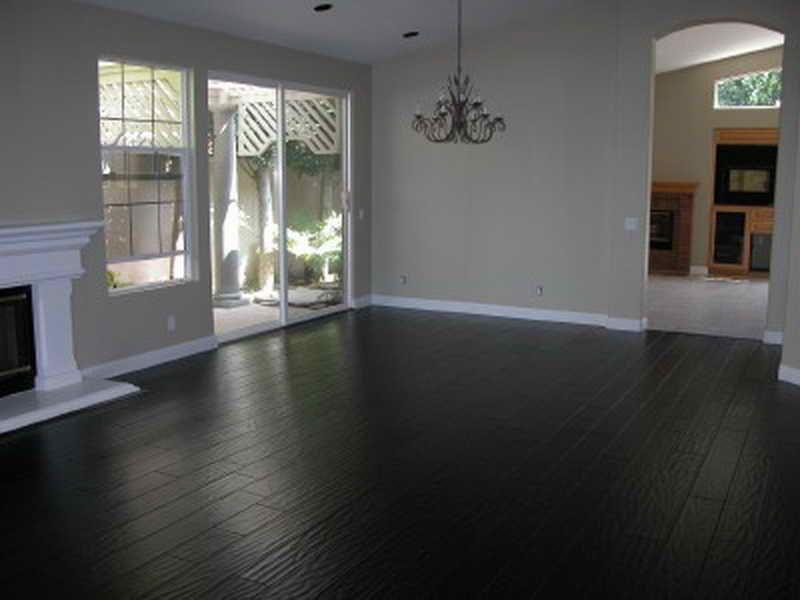 Simple And Clean Painting Hardwood Floors Black   Hardwood Floors ...