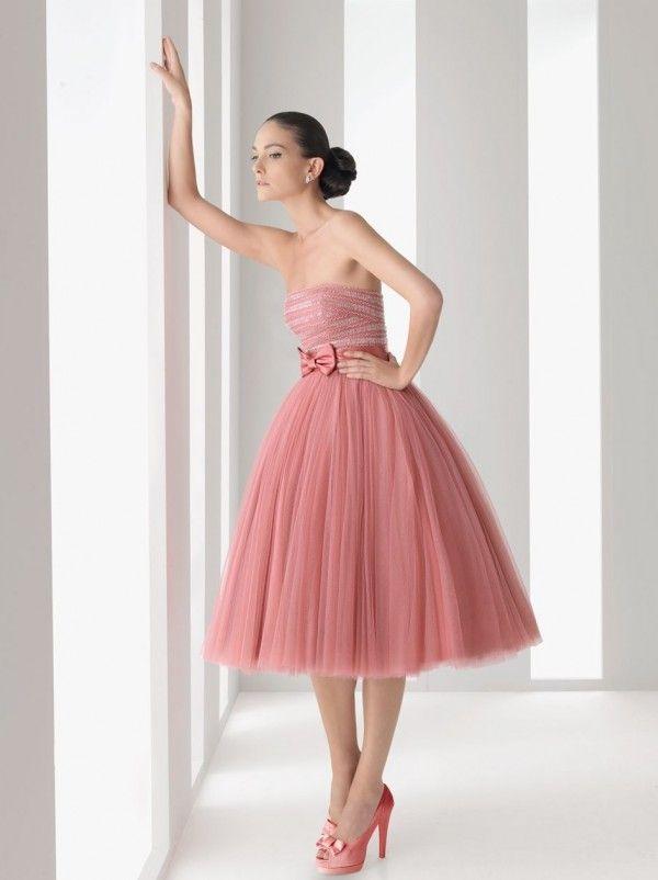 Rosa Clará Vestidos de Fiesta 2012 Vestido de tul rosa palo | trajes ...