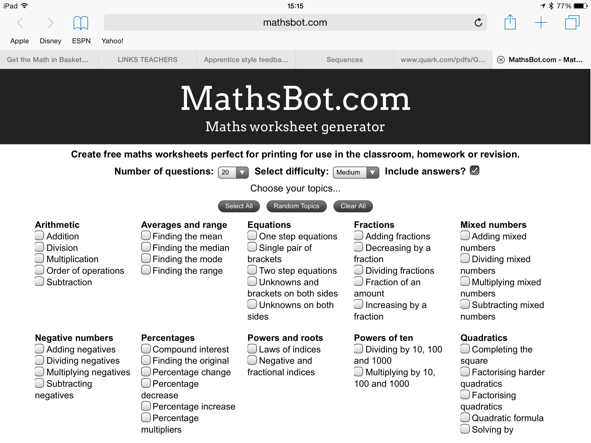 Pin By Kevin Simpson On Maths Links