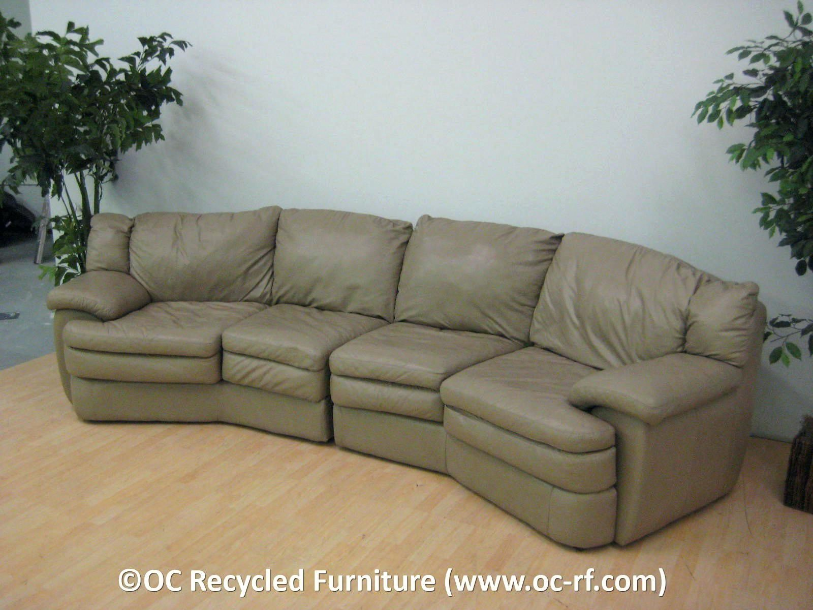 Luxury Real Leather sofas graphs couches curved sectional