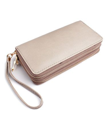 Look what I found on #zulily! Gray Classic Double-Zip Wallet #zulilyfinds