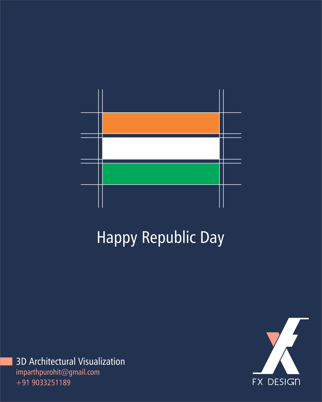 Happy Republic Day Fx Design Agency Abasana Advertising Www Abasana In Creative Club Republic Day Banner Design