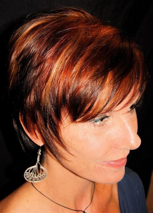 light brown hair with red highlights | Labels: red hair ...