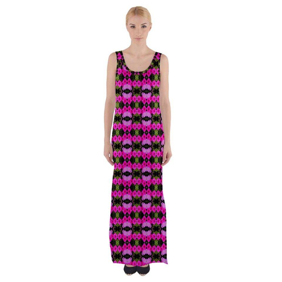 15a85b2c61 Maxi Dress Pretty Pink flower pattern  cowcow  fashion  trends ...