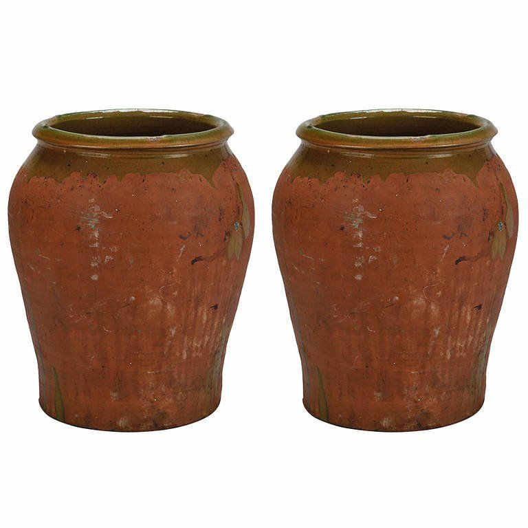 Large Spanish Terra Cotta Pot From A Unique Collection Of Antique And Modern Vases And Vessels At Https Www 1stdibs Terracotta Pots Terracotta Modern Vase