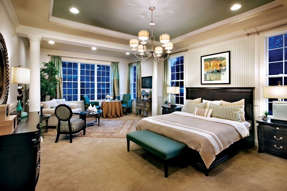 Luxury Master Suite award-winning bayhill master bedroom (toll brothers at the