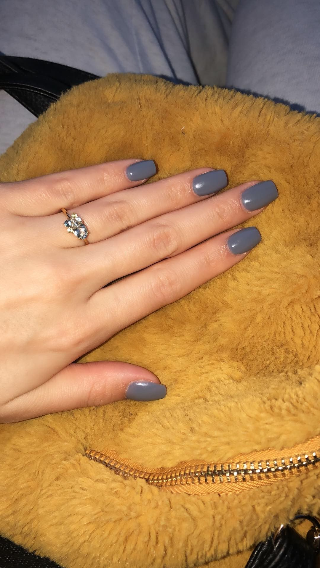Gray Nails Nail Colors Short Nails Classy Nails Short Nail Manicure Grey Acrylic Nails