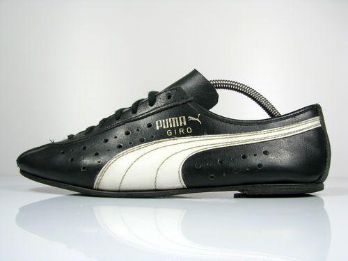 vintage PUMA GIRO road CYCLING SHOES UK 9 OG 70s rare all leather black  FRANCE  9ca96d5e1