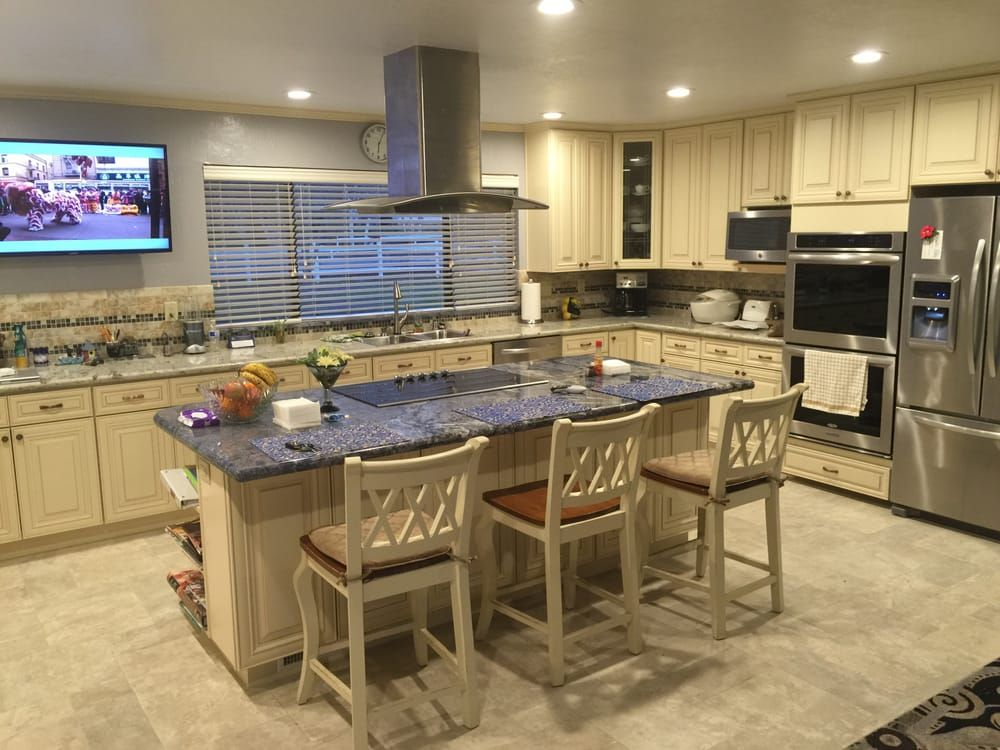 j k cream maple cabinet yelp kitchen and bath remodeling on j kitchen id=51417