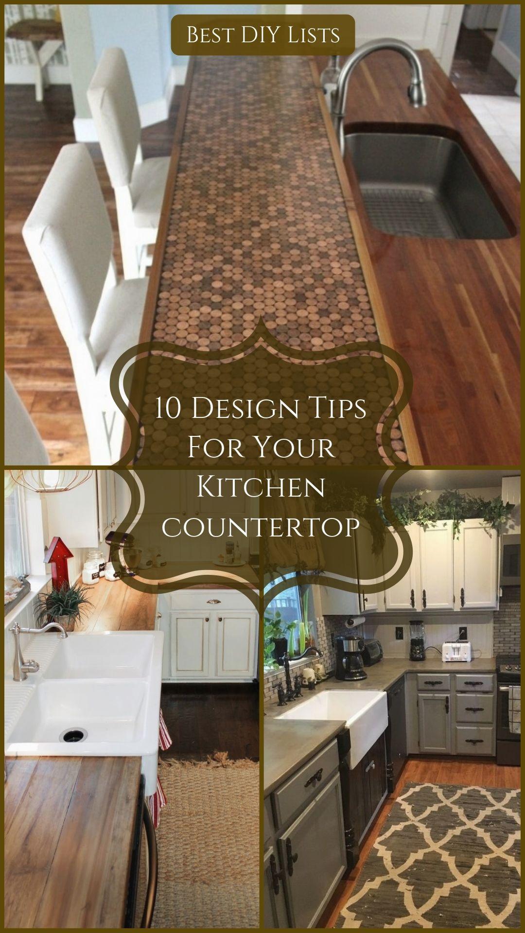 Kitchen Countertop Design Ideas New Kitchen Diy Diy Kitchen Decor Kitchen Countertops