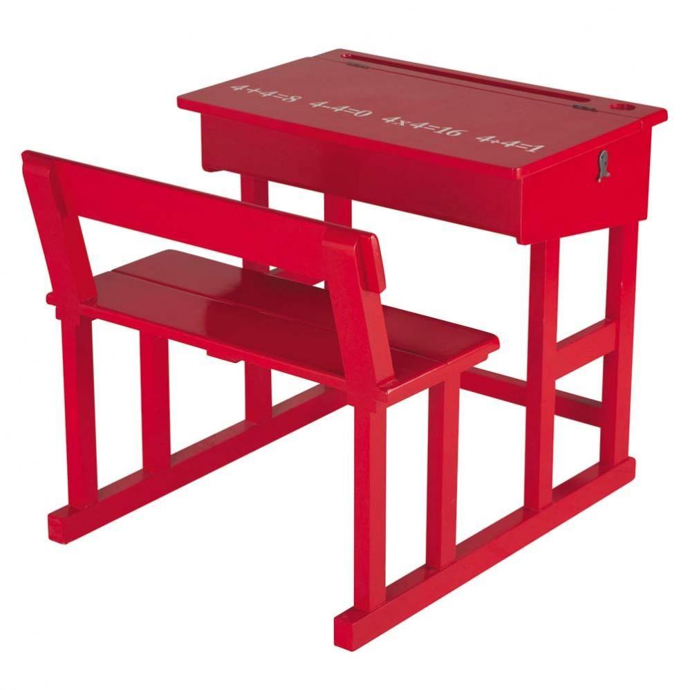 Escritorio Infantil Rojo Caja De Madera Cajas Y Madera # Muebles Pupitres Escolares