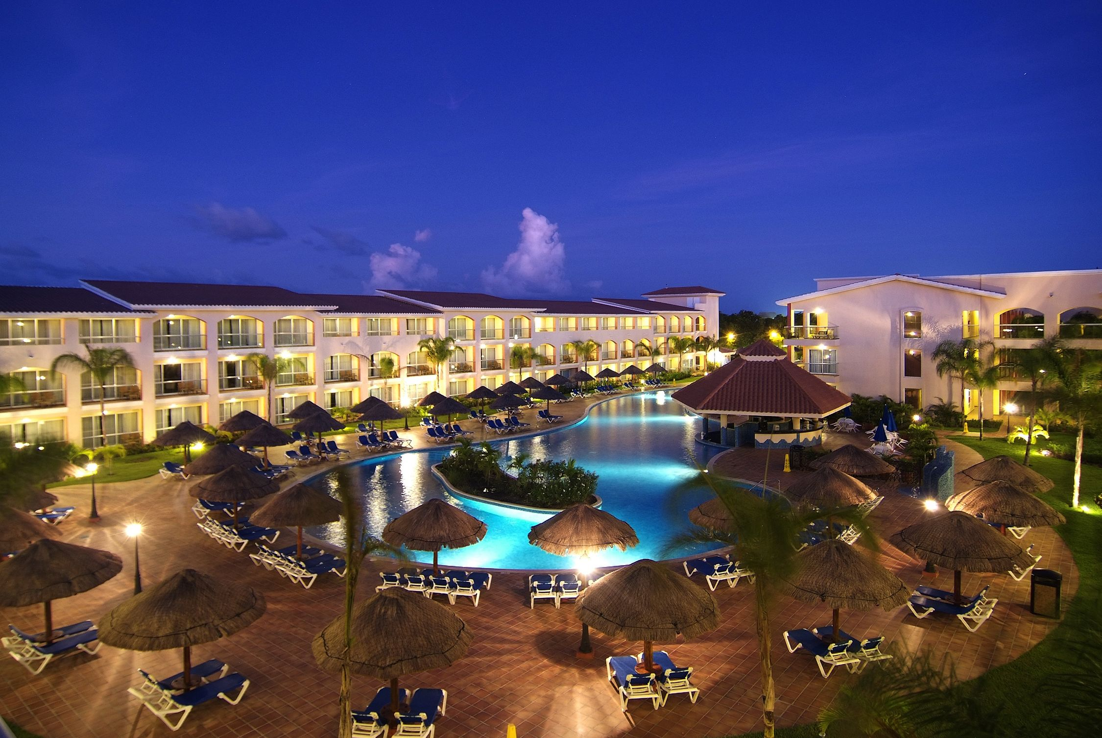 Rivera Pool view of the pool at at the sandos playacar resort spa in the