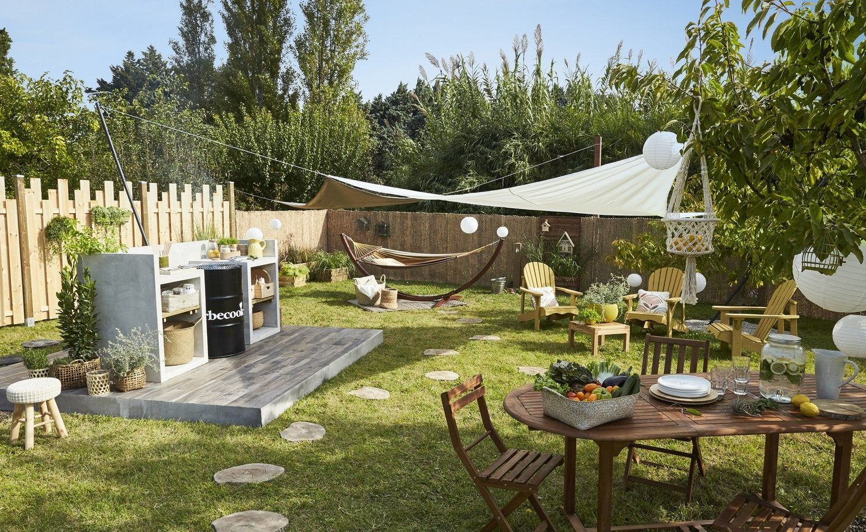 Une Cuisine En Plein Air Leroy Merlin En 2020 Espace Barbecue Idees De Bricolage De Jardin Terrasse Leroy Merlin
