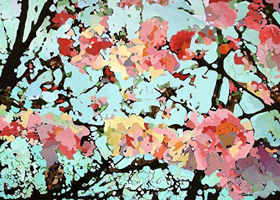 Randy Honerlah - Sakura- Acrylic - Painting entry - January 2017 | BoldBrush Painting Competition
