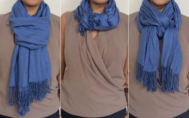 Nouer une charpe comment porter une charpe pinterest charpes foulards et astuces - Nouer une echarpe ...