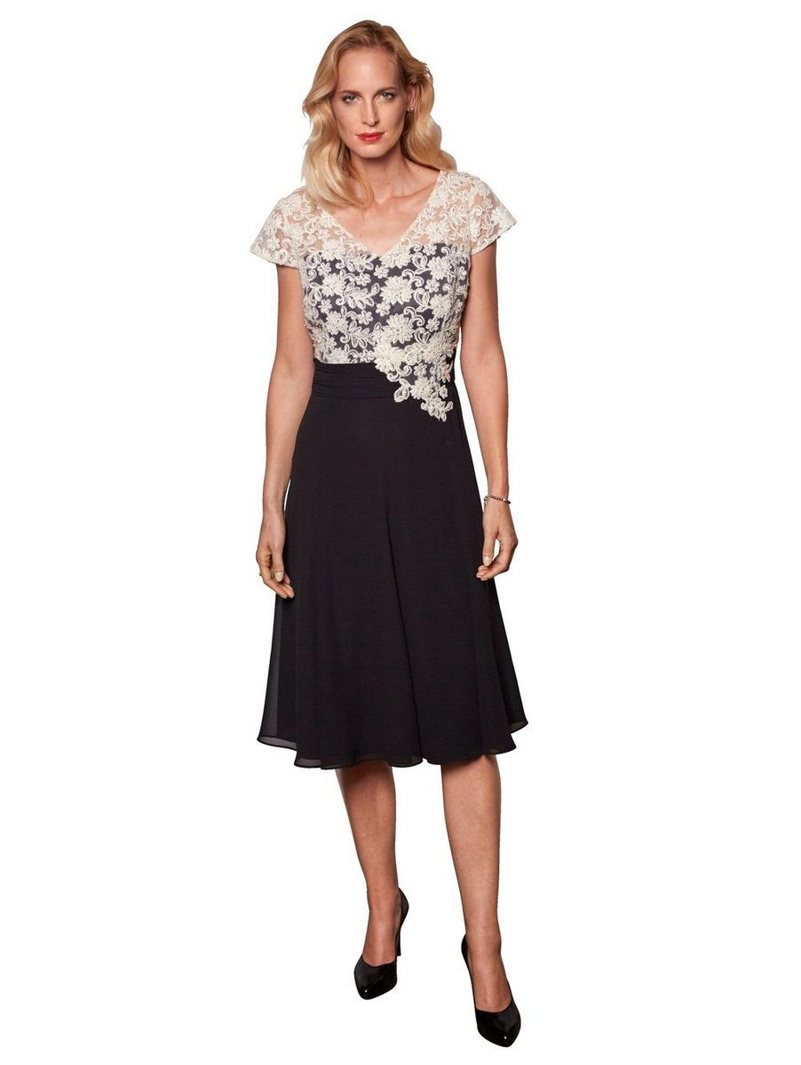 Mona Kleid mit Spitzenoberteil, Oberteil aus floraler Spitze